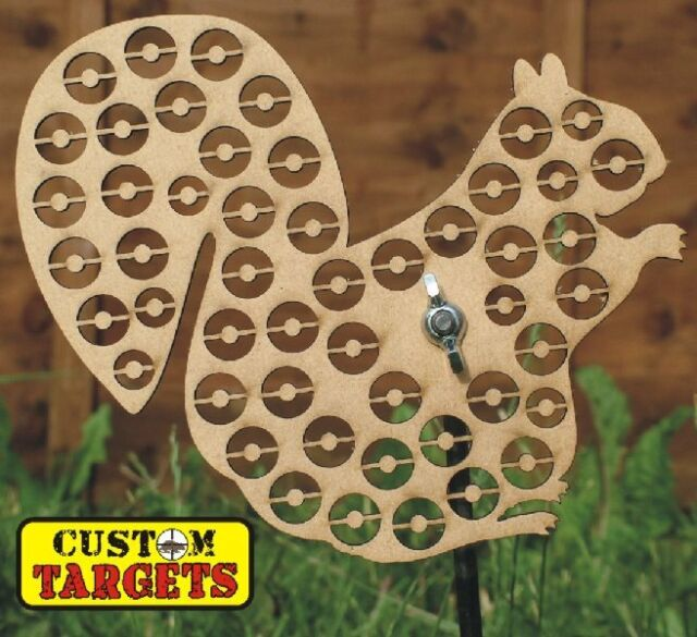 SQUIRREL REACTIVE AIRGUN TARGET -wood  50 SHOOT AWAY ZONES  HUGE RANGE AVAILABLE