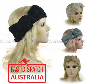 a95f31dd1cb Image is loading Crochet-Headband-Hair-Band-Knit-Knitted-Loop-Tube-