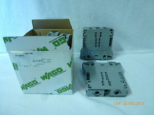 Wago 285-195 Terminal Block 51126642 1000V 232A 35mm-95mm AWG 2-0 Qty 4 New