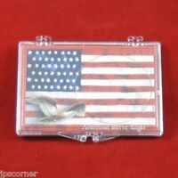 Snaplock Coin Cases Holders 1 Oz American Silver Eagles, American Flag 50 Count