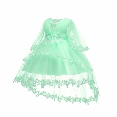 Newborn Girls Baby Dress Tulle Christening Toddler Princess Wedding Baptism SHP