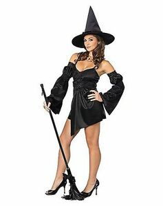 Image is loading Sexy-Black-Witch-Adult-Halloween-Costume-X-Small-  sc 1 st  eBay & Sexy Black Witch Adult Halloween Costume X-Small (New) - FREE ...