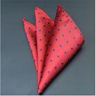 Men Pocket Square Hankerchief Korean Silk Paisley Dot Floral Hanky Wedding Party