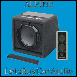 ALPINE-SWE-815-8-034-20cm-150w-AMPLIFIED-SUBWOOFER-BASS-BOX-INCLUDING-WIRED-REMOTE