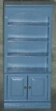 Regalschrank/Schrank,mittelblau, Maßstab 1:12,Miniatur f. Puppenstube/Puppenhaus
