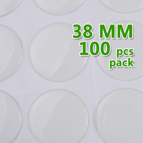 High Quality Clear Round Epoxy Stickers for caps,epoxy Domes 38mm 100pcs C1908