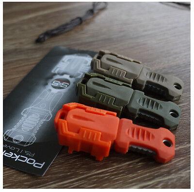 EDC Gear Mini Multifunction Outdoor Survival EDC Tool  Knife Webbing Buckle