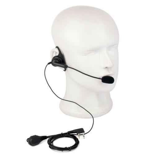 10X PTT Earpiece Headset w// boom Mic for Kenwood Baofeng Retevis Walkie Talkie
