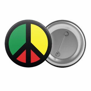 Rasta-Peace-Sign-Badge-Button-Pin-1-25-034-32mm-Reggae-Rastafarian-Symbol-2