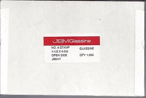"Box of 1000 NEW JBM #8 Glassine Envelopes 4-1/2"" x 6-5/8"" FREE U.S. SHIPPING"