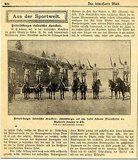 Reiterleistungen italienischer Kavallerie: Schießübungen auf dem Sattel 1910