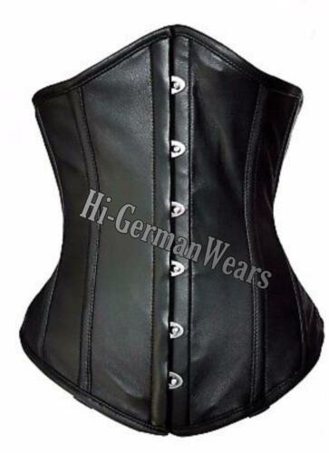 Authentic Genuine Leather Steel Boned Heavy lacing under bust Shaper Corset hi66