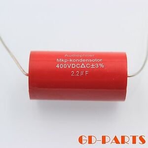 2-2uf-400VDC-MKP-polypropylene-Capacitor-Audio-Amps-Crossover-Speaker-Coupling-1
