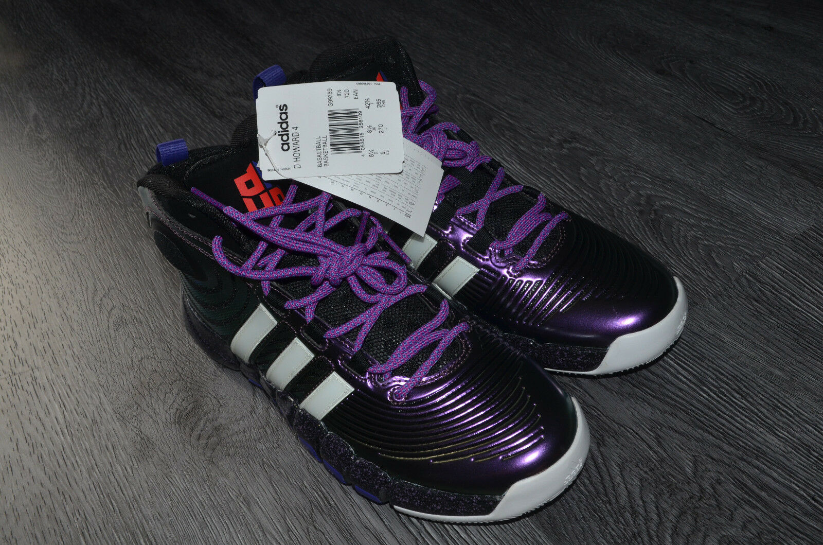 ADIDAS MENS D HOWARD 4 BASKETBALL SHOES BLACK PURPLE  SALE NOW ON