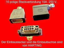 DD11.0113.1110 Steckverbinder zur AC-Stromversorgung Buchse männlich 10A SCHURT