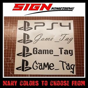 Details about PlayStation Gamertag Decal / Sticker customizable your  username game tag gamer