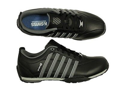 K-Swiss Arvee 1.5 Lace Up Trainer Charcoal//Black//White