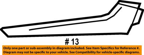 Chevrolet GM OEM Malibu Front Bumper Grille Grill-Trim Molding Left 23478373