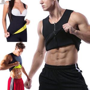 d65f58cb07c7e Men Hot Sweat Sauna Vest Body Shaper Slimming Suit Thermo Neoprene ...