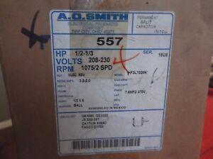 1//12 1//14 HP 1075 RPM NEW AO SMITH MOTOR 595 1//8