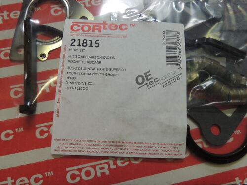 Corteco//Iseal Head Gasket Set 21815 Fits Acura Honda 1.5L 1.6L 4 Cylinder