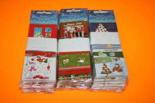 5 x 7,5 cm..229//4 18 ÉTIQUETTES CADEAUX JOYEUX NOEL 3 Paquets de 6 Étiquettes