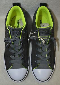 d4d73fdc540 Details about Converse All Star CT Street Cab Mid Grey Neon Boy s Sneakers  - Size 11 NWB