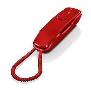 43a364e765c56c Téléphone Fixe Gigaset DA210 Rouge Original Utilisé   eBay