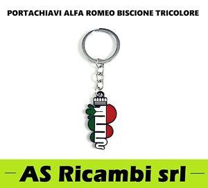 PORTACHIAVI ALFA ROMEO BISCIONE TRICOLORE 147 159 156 MITO GIULIETTA GT GIULIA