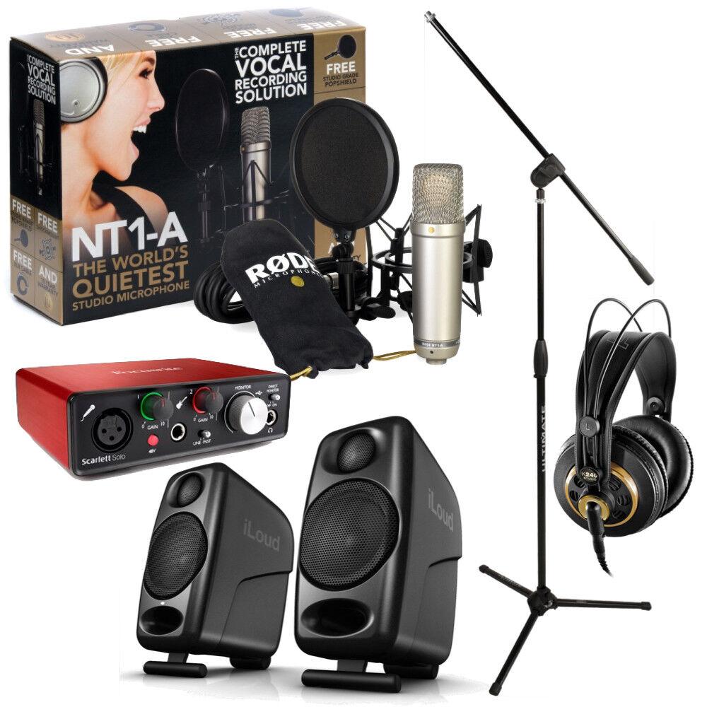 Focusrite Solo Studio Bundle  Interface, Mic, Headphones, Monitors, Stand