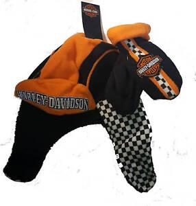 Harley-Davidso<wbr/>n Logo Toddler Boy Fleece Winter Hat & Mitten Gift Set
