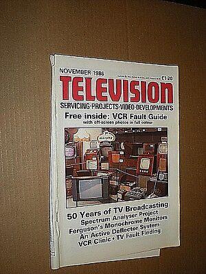 Television Servicing Magazine. November 1986 Vol. 37, No. 1, Issue 433 Fijne Kwaliteit