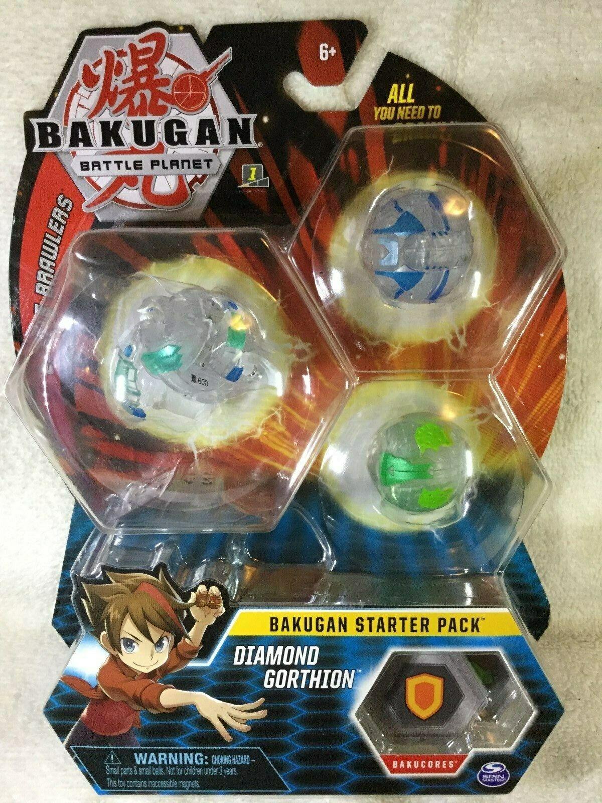 BAKUGAN estrellaTER PACK Diamond gorthion Set SPIN MASTER MOC battaglia pianeti Chase