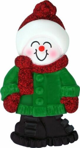 Male Name Snowboy Tyler Personalized Christmas Tree Ornament