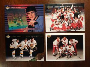 1991, 1992(2), 1993 UPPER DECK HOCKEY, SP SET, SP1, SP2, SP3, SP4, 4 CARDS