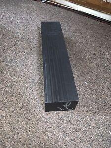 """1 1//2 DELRIN BLACK 8 3//4/"""" X 12/"""" CNC PLASTIC E"""