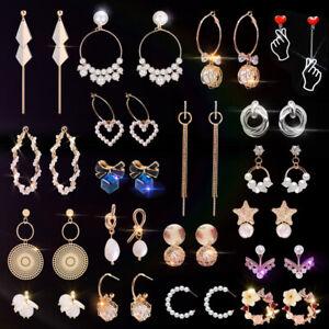 Korea-Multi-style-Crystal-Pearl-Long-Tassel-Drop-Dangle-Earrings-Jewelry-Gifts