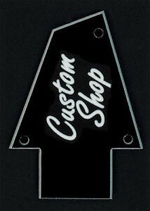 GUITAR-TRUSS-ROD-COVER-Engraved-Fit-IBANEZ-CUSTOM-SHOP-Black