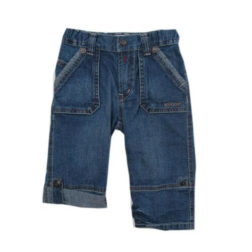 Whoopi lange Hose Jeans verstellbare Länge blau Kinder Jungen Gr.74,80,98