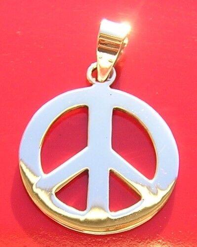 MAGNIFIQUE PENDENTIF EN ARGENT 925//1000 PEACE AND LOVE