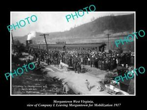 OLD-LARGE-HISTORIC-PHOTO-OF-MORGANTOWN-WEST-VIRGINIA-WWI-TROOP-MOBILIZATION-1917