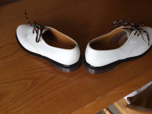Scarpe 38 5 Eu Dr Uk bianca pelle Brook in Martens vintage varwqFv