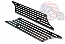 Black Contrast Cut Alloy Saddlebag Latch Covers Kit Latches Pair Harley Touring