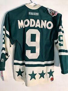 689692e0f4f1e Reebok Youth NHL Jersey All-Star West Mike Modano Green CCM sz S | eBay