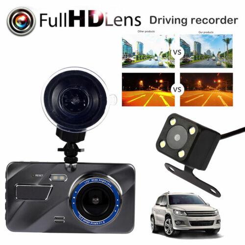 "Rearview Camera 4/""1080P HD 170°Touch Screen Car DVR Dash Cam G-sensor Recorder"