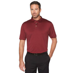 Men-039-s-Grand-Slam-AirFlow-Performance-Maroon-Golf-Polo-in-3-Size