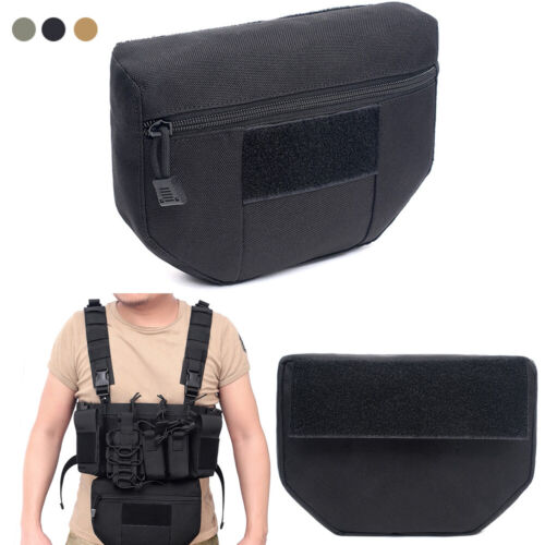 Tactical Armor Carrier Drop Dump Pouch AVS JPC CPC Airsoft Molle Waist Mag Bags