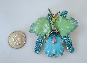 Kirks-Folly-African-Queen-Fairy-Orchid-Pin-Enhancer-Silvertone