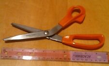 "Fiskars pinking shears, zig-zag scissors, 10"" right-hand"