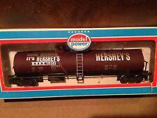 Model Power HO Scale Train Hershey Chocolate Tank Car